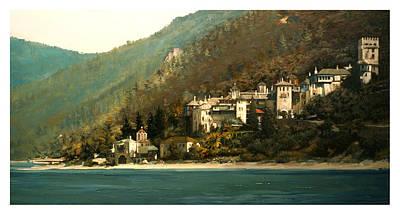 Painting - Agion Oros-greece by Demetrios Vlachos