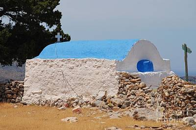 Photograph - Agios Ioannis Church On Tilos Island by David Fowler