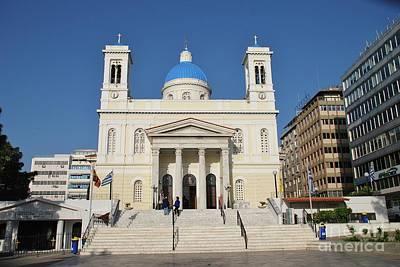Photograph - Agios Nikolaos Church In Athens by David Fowler