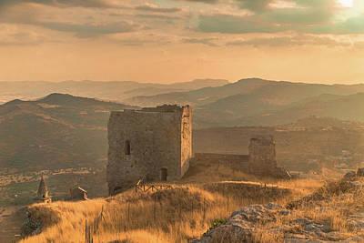 Photograph - Agira Castle by Emilio Messina