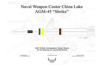 Digital Art - Agm-45 Shrike Antiradiation Missile by Arthur Eggers