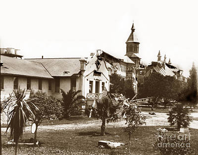 Photograph - Agnews State Hospital San Jose Calif. 1906 by California Views Mr Pat Hathaway Archives