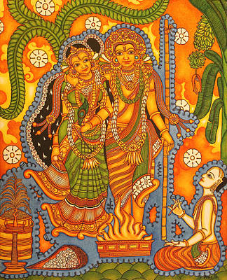 Complicated Painting - Agnisakshi Kerala Brahmin Marriage by Anu Edasseri