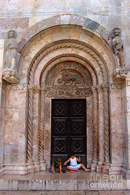 Agnus Photograph - Agnus Dei - St. Anastasia Zadar by Jasna Dragun