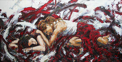 Empathy Painting - Agony And Empathy by Joel Sundquist