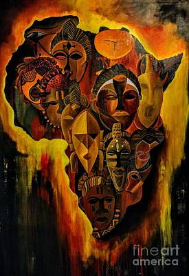 Agony Of A Continent Original by Christian Abessolo