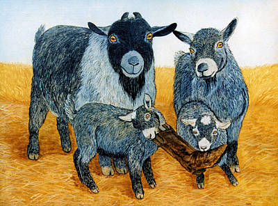 Painting - Agoudi Family by Jan Amiss