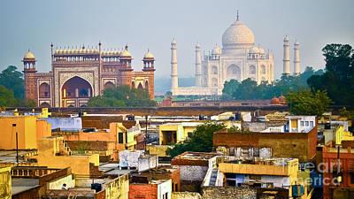 Agra Rooftop Art Print by Derek Selander
