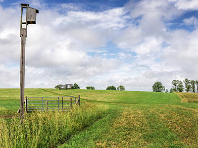 Photograph - Agricultural Landscape With Birdhouse by Phil Cardamone