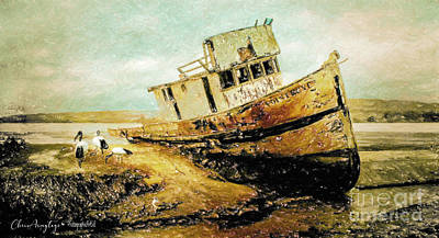 Digital Art - Aground by Chris Armytage