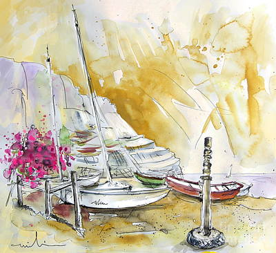 Village By The Sea Painting - Agua Amarga 13 by Miki De Goodaboom