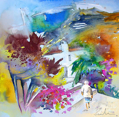 Painting - Agua Amarga Fantasy 03 by Miki De Goodaboom
