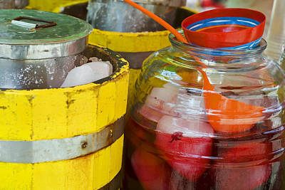 Food And Beverages Photograph - Agua De Hamaica by Skip Hunt