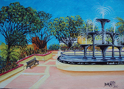 Aguadilla Plaza 2009 Art Print