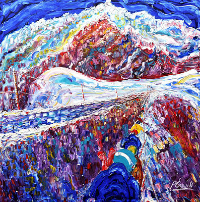 Chamonix Painting - Aguille Du Midi by Pete Caswell