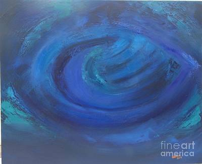 Prussian Blue Painting -  Blue Hole by Aliosha Valle