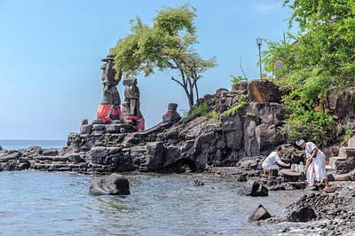 Religious Statues Photograph - Agung Pulaki - Bali by Joana Kruse