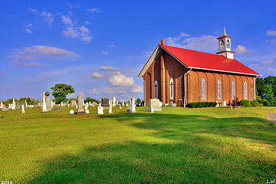 Photograph - Augusta Christian Church And Cemetery by Lisa Wooten