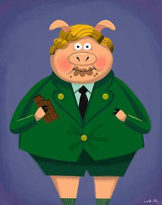 Agustus Pig Art Print by Brian White