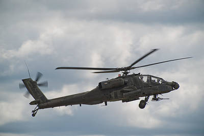 Helicopter Photograph - Ah-64 Apache by Sebastian Musial