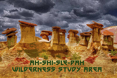 Digital Art - Ah-shi-sle-pah Wilderness Study Area by Chuck Mountain