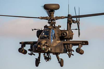 Ah64 Apache Flying Art Print
