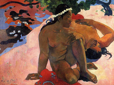 Gauguin Painting - Aha Oe Feii, Are You Jealous by Paul Gauguin