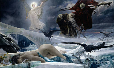 Skeleton Painting - Ahasuerus At The End Of The World by Adolph Hiremy Hirschl