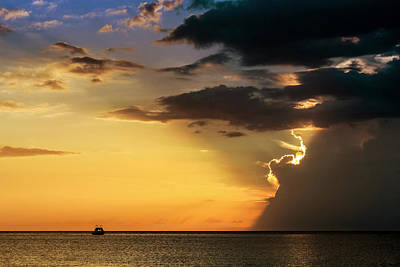 Jamaican Sunset Photograph - Ahead Of The Storm by Todd Reese