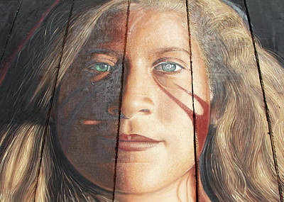 Photograph - Ahed Tamimi Mural by Munir Alawi