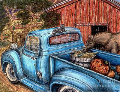 Pastel Barns Painting - Ahh...the Good Life by Kim Jones
