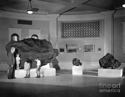 Photograph - Ahnighito Meteorite, 1940s - To License For Professional Use Visit Granger.com by Granger