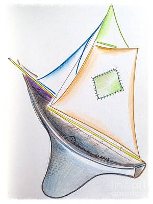 Ahoy Art Print by Barbara Chase