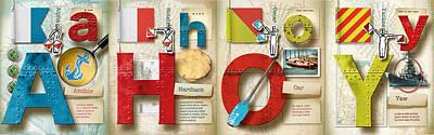 Phonetic Digital Art - Ahoy Plain by Vanessa Bates