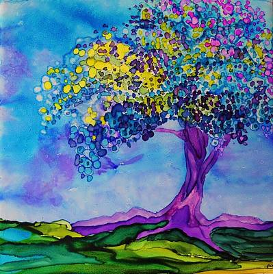 Tree Roots Painting - Grounded - A 234 by Catherine Van Der Woerd