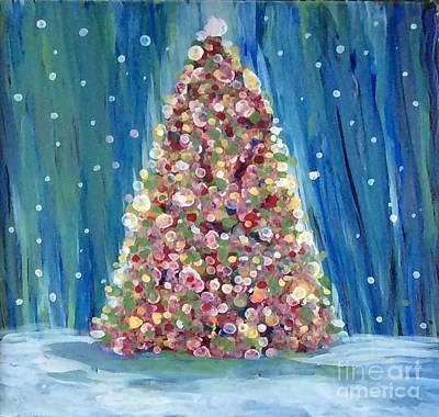Painting - Ai Christmas Tree by Tina Swindell