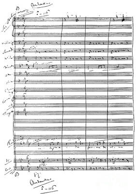 Verdi Wall Art - Drawing - Aida Score  Radames To Aida by Giuseppe Verdi