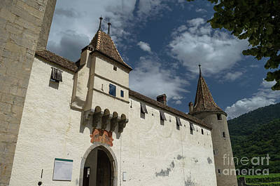 Photograph - Aigle Castle Entrance by Michelle Meenawong