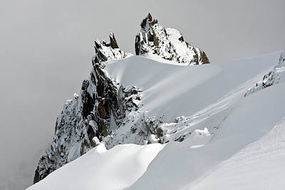 Snow. Mountain Photograph - Aiguille Du Midi by Ellen van Bodegom