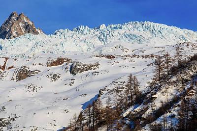 Tour Du Mont Blanc Wall Art - Photograph - Aiguille Du Tour And The Glacier Du Tour by Chris Warham