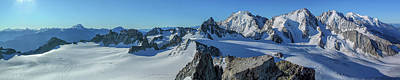 Tour Du Mont Blanc Wall Art - Photograph - Aiguille Du Tour Summit Panorama  by Chris Warham