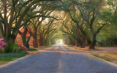 Aiken South Boundary Avenue Art Print