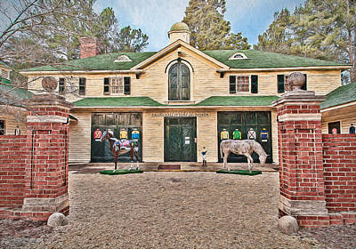 Digital Art - Aiken Thoroughbred Racing Hall Of Fame by Shirley Radabaugh