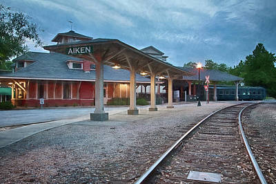 Photograph - Aiken Train Depot by Shirley Radabaugh