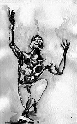 Drawing - Ailey by Howard Barry