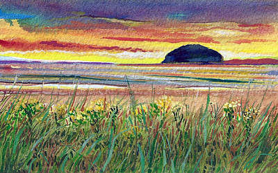 Newton Painting - Ailsa Craig Sunset by Ian Mackenzie
