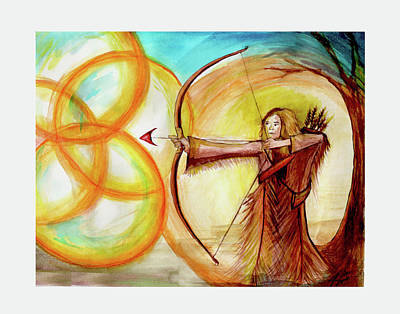 Painting - Aiming At His Promises by Jennifer Page