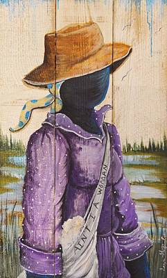 Gullah Geechee Painting - Ain't I A Woman by Sonja Griffin Evans
