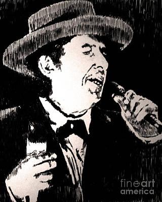 Bob Dylan Drawing - Aint Talkin  Just Walkin by Robbi  Musser