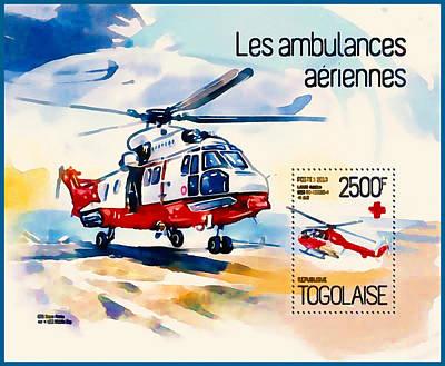 Air Ambulance Art Print by Lanjee Chee